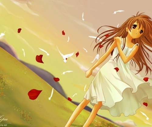 """Emma Chose this image from a google search """"Girl in the wind"""""""